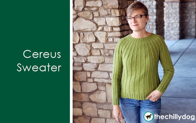 Cereus Sweater pattern release announcement by The Chilly Dog