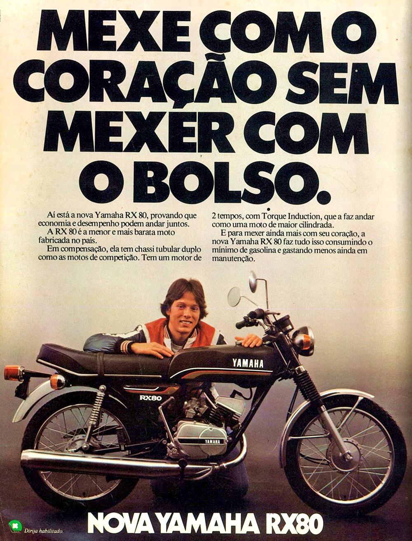 Propaganda de lançamento da moto Yamaha RX 80 em 1979