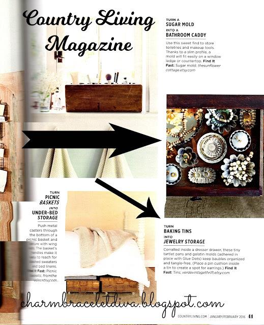 Country Living Magazine jewelry storage