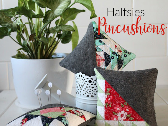 Free Pattern- Halfsies Pincushions (Three designs)