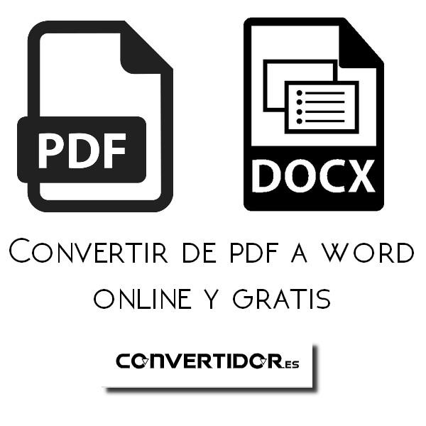 ¿Cómo convertir de PDF a WORD?