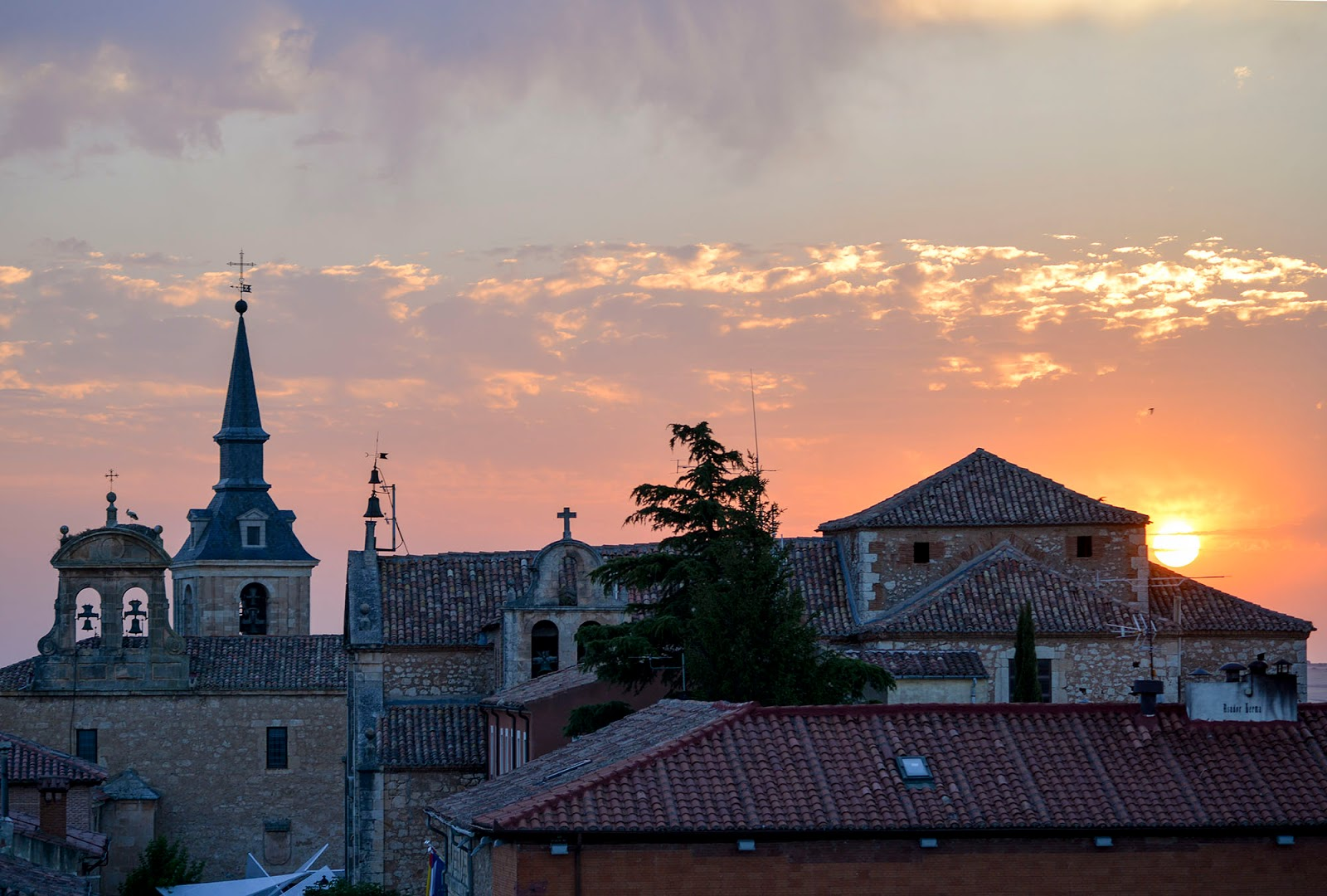 lerma burgos spain castile leon sunset beautiful village