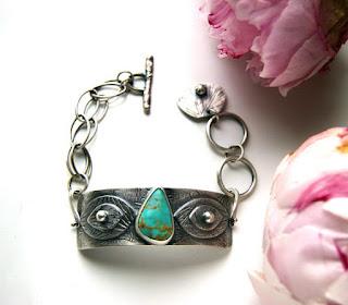 Silver Turquoise Bracelet MercuryOrchid