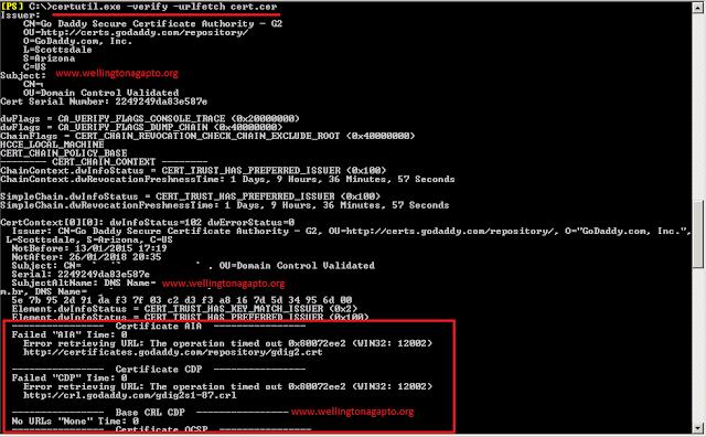 Certificado da Go daddy revogado em uma implementação híbrida com o Exchange Online no Office 365