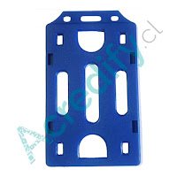 Porta credencial simple azul vertical