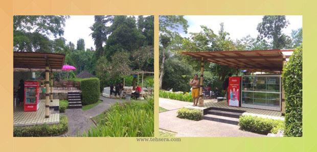 kafe di dalam wisata pemandian yeh panes