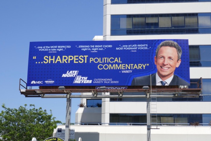 Late Night Seth Meyers 2019 Emmy FYC billboard