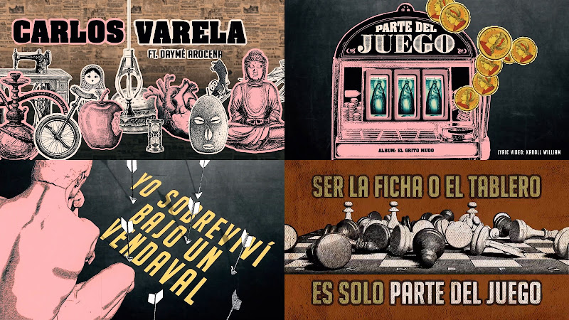 Carlos Varela & Daymé Arocena - ¨Parte del juego¨ - Lyric Video / Dibujo Animado - Director: Karoll William. Portal Del Vídeo Clip Cubano