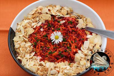 Salade de carottes aux agrumes avec Magimix