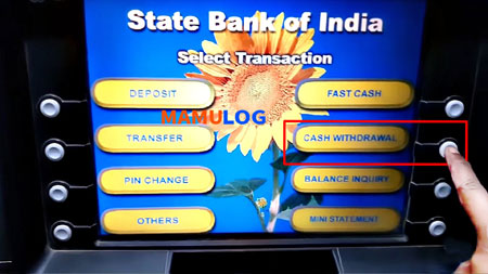 click cash withdrawal