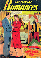 Pictorial Romances v1 #9  st. john romance comic book cover art by Matt Baker
