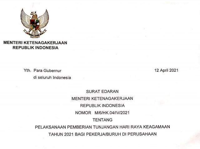 Gubernur, Walikota/Bupati Diminta Turun Langsung Selesaikan Pengaduan THR