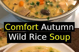 Comfort Autumn Wild Rice Soup Recipe #soup #dinner #vegetarian #glutenfree #vegan #comfortfood