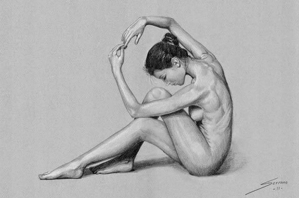 Pintura Moderna Y Fotografía Artística Dibujos Mujeres Espalda