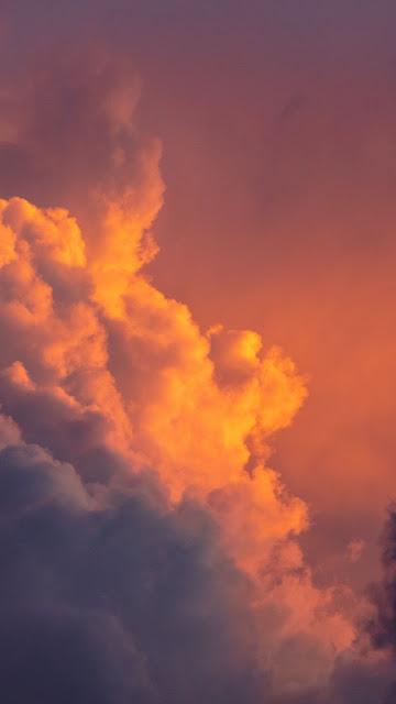 Pink Twilight Sky Clouds wallpaper