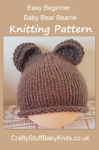 knitting pattern for a simple baby bear ears hat