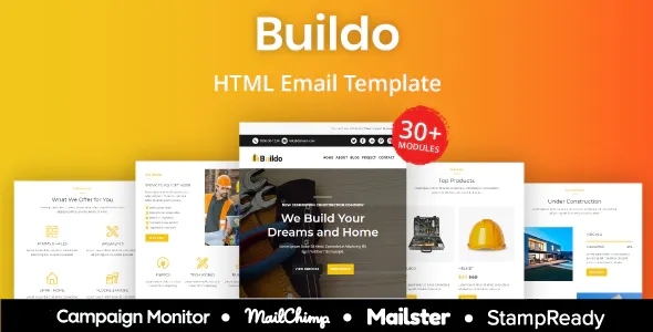 Download Construction Responsive Email Template