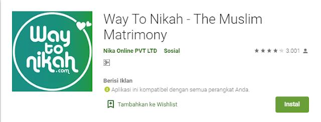 aplikasi cari jodoh way to nikah