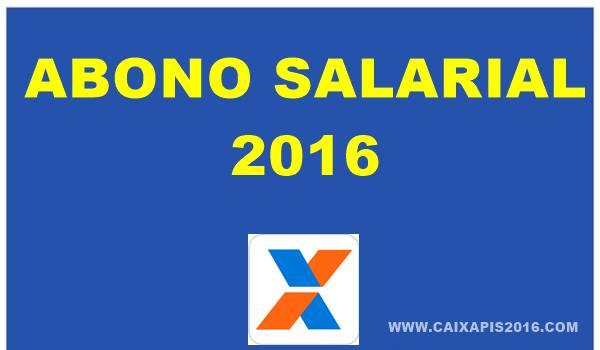 Abono Salarial PIS 2016