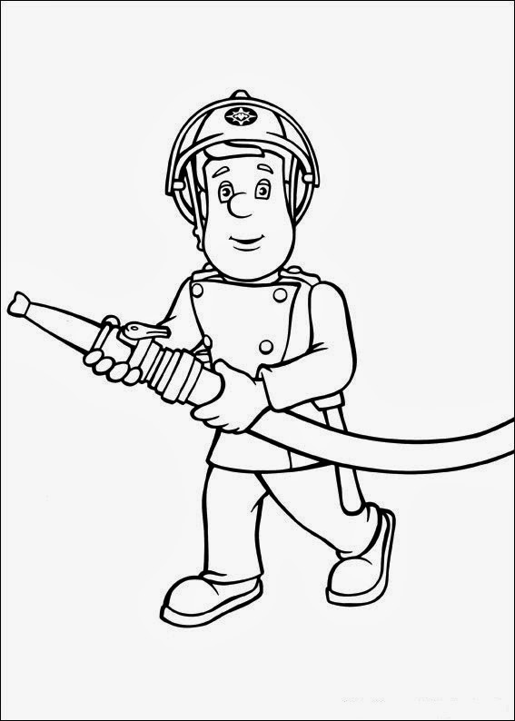 Fun Coloring Pages: Fireman Sam Coloring Pages