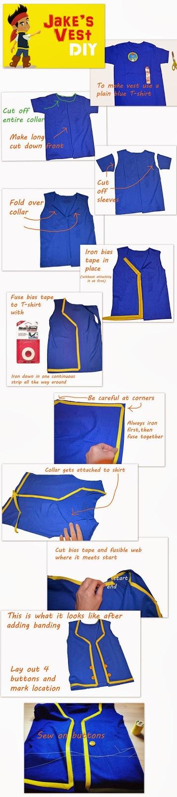 Disneyu0027s Jake and the Neverland Pirates DIY Jakeu0027s Vest Tutorial  sc 1 st  Smart Girls DIY & DIY Jake and the Never Land Pirates Costume