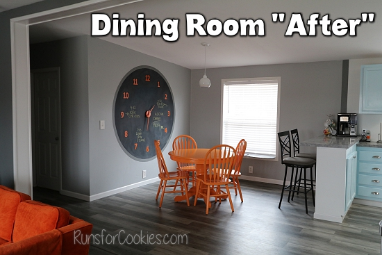 "Dining room ""after"""