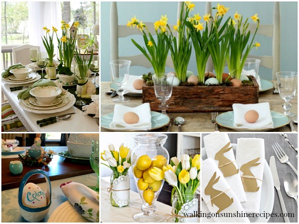 Easter Table Settings and Decorating from Walking on Sunshine.