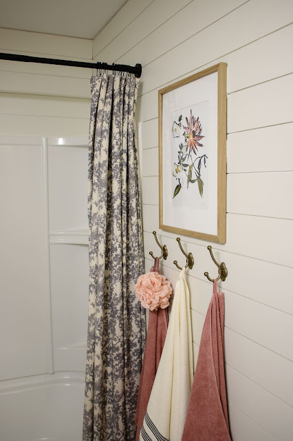 Juniper Print Dahlia in a bathroom