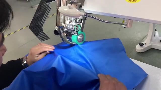 hot air seam sealing operation