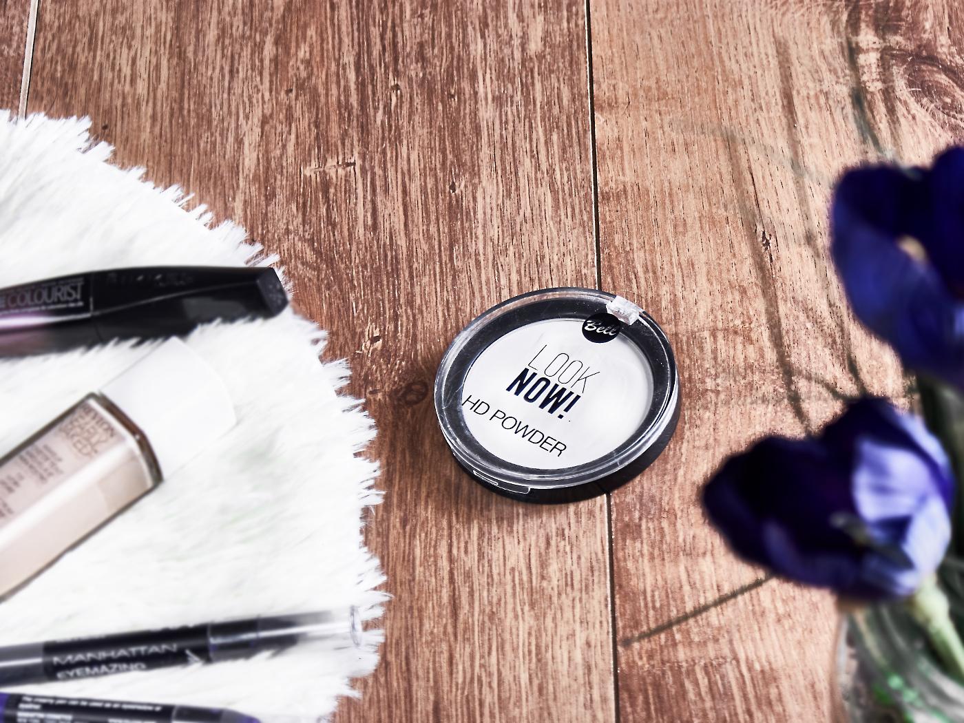 Rimmel Volume Colourist, Lirene Shiny Touch rozświetlacz, Revlon Nearly Naked, Bell Look Now HD Powder, Manhattan Eyemazing