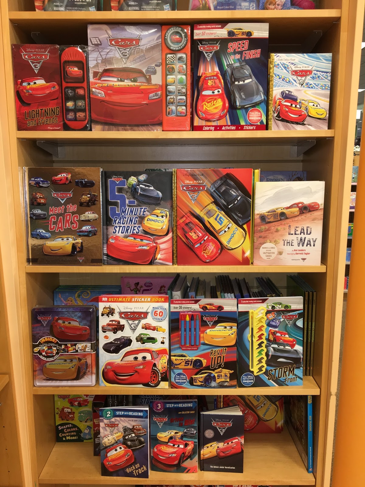 pixar cars 3 toys merchandise release 2017 books
