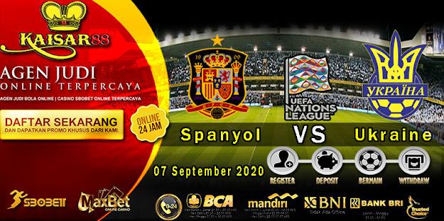 Prediksi Bola Terpercaya Ajang UEFA Nations Spain vs Ukraine 7 September 2020