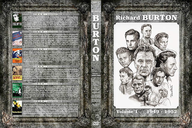 Richard Burton Filmography Vol 1-10 Thin Spine DVD Cover