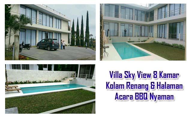 villa besar di lembang fasilitas kolam renang private