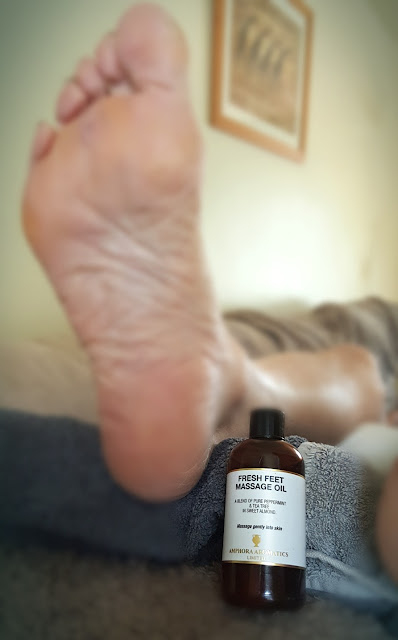 Testing Amphora Aromatics massage oil with Clients