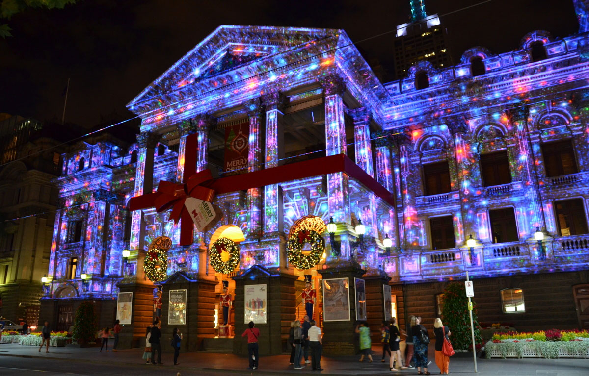 christmas projections in melbourne