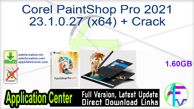 Corel PaintShop Pro 2021 23.1.0.27 (x64) + Crack