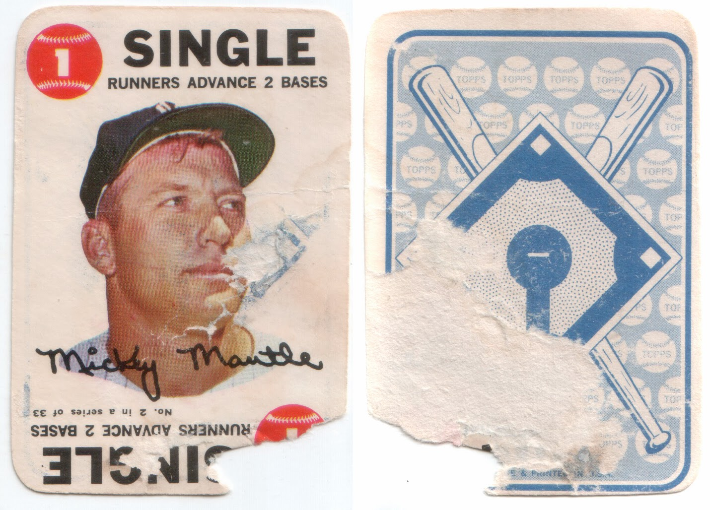 Pobc 1968 Topps Game Br Mickey Mantle