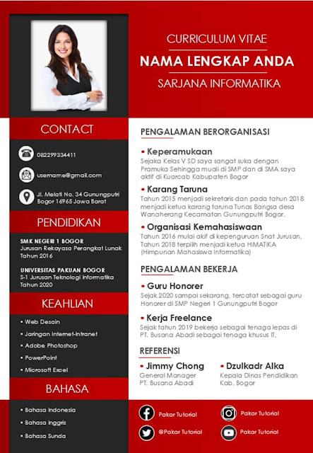 CV Lamaran Kerja dengan Ms. Word