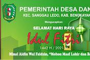 Pemdes Danti Mengucapkan Selamat Hari Raya Idul Fitri