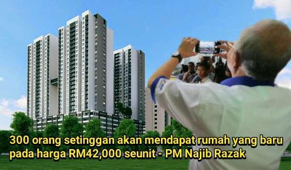 [Video] 300 Setinggan  Akan Mendapat Rumah Baru Pada Harga RM42,000 Seunit - @Najib Razak