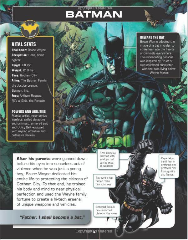 Batman Character Encyclopedia And Signing