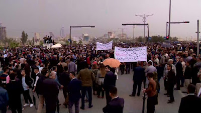 Protests against the Kurdish regional government (KRG)