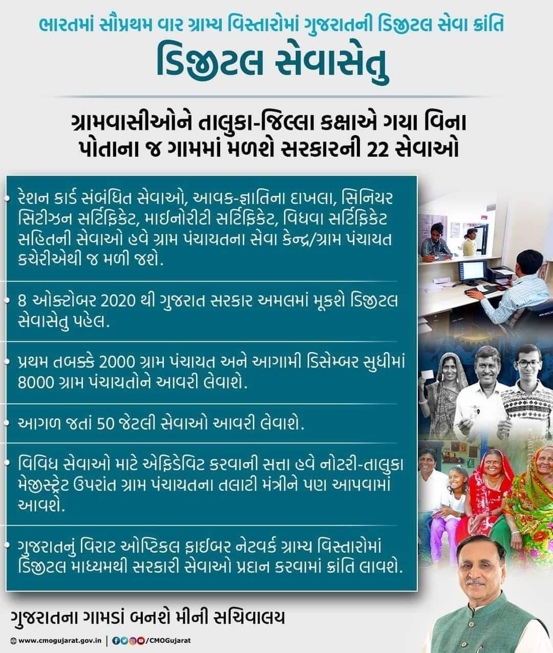 22 Digital Service at village In Gujarat