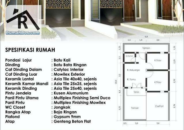 Desain denah dan spesifikasi bangunan GGV Tahap 2