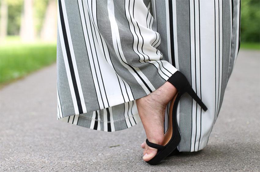 Palazzohose Lace-Up Body Schuhe