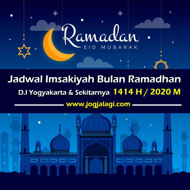 Jadwal Imsakiyah dan Buka Puasa Ramadhan 1414 H / 2020 M untuk Wilayah D.I Yogyakarta