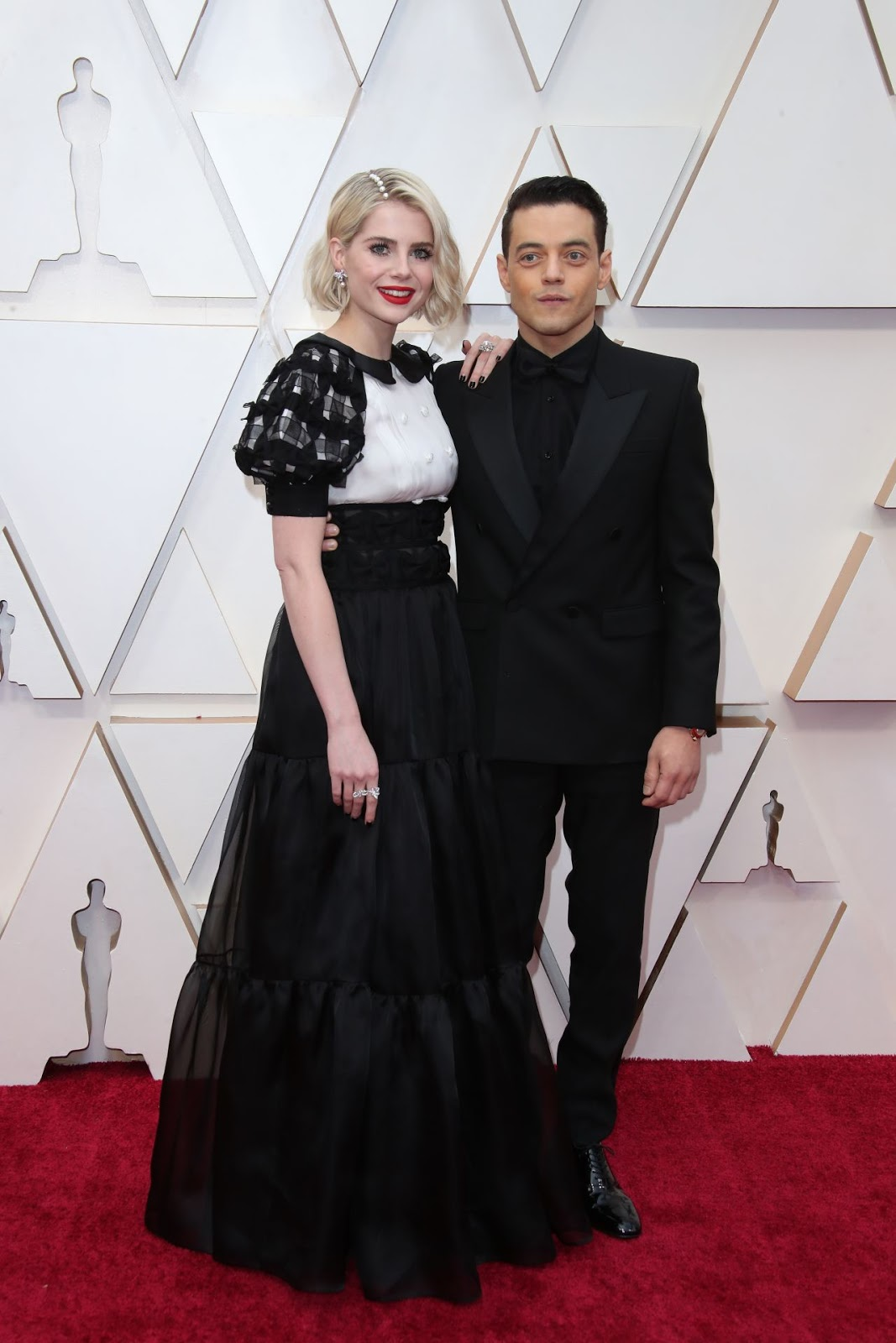 Rami Malek and Lucy Boynton Stepped Up Their Couple Style for the Oscars Red Carpet