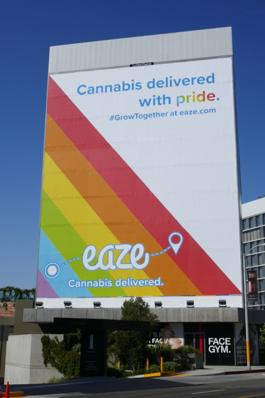 Cannabis delivered Pride Eaze billboard