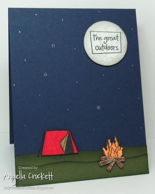 Studio G the Great Outdoors, NCC Rocket Man (Moon), Card Designer Angie Crockett